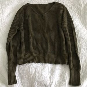 Brandy Melville Olive Sweater